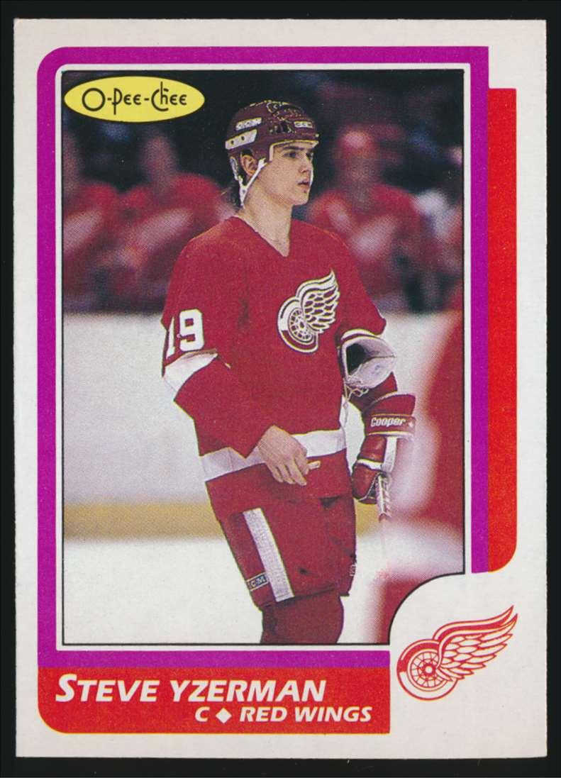 1986-87 OPC Steve Yzerman #11 card front image