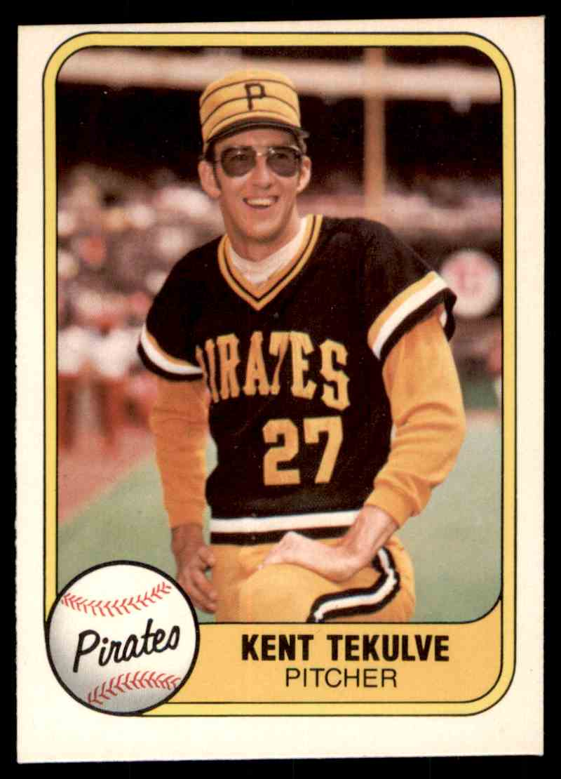 1981 Fleer Mlb Baseball Kent Tekulve 362 On Kronozio