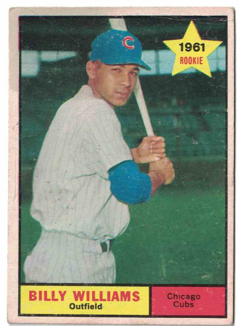1961 Topps Billy Williams VG-EX creases #141 card front image