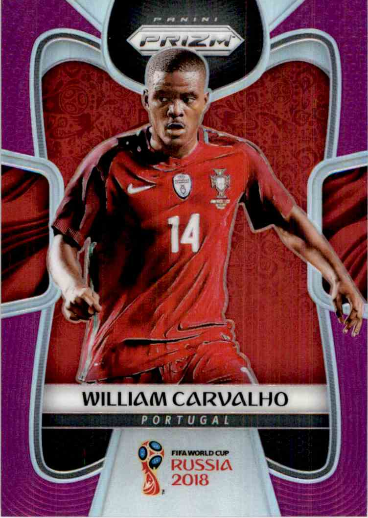 2018 Panini Prizm World Cup Purple Prizm William Carvalho #161 card front image