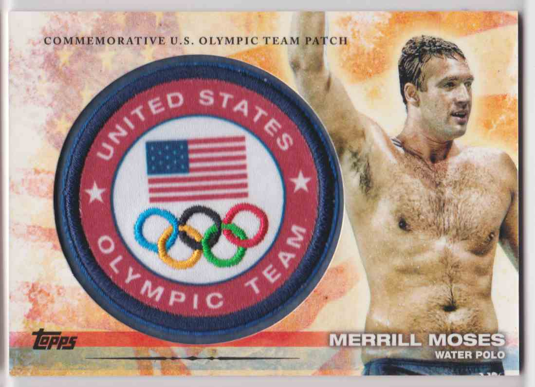 2012 Topps Commemorative U.S. Olympic Team Patch Merrill Moses #ULP-MEM card front image