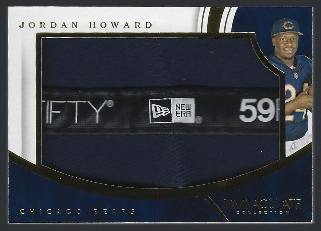2016 Immaculate Collection Rookie Player Caps Jordan Howard #JH card front image
