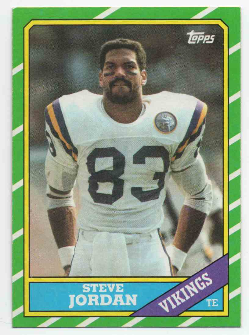 1986 Topps Steve Jordan #298 card front image