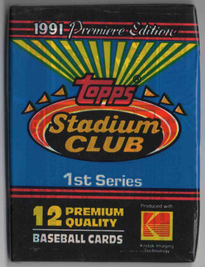 1991 Stadium Club Series 1 Unopened Pack #12 card front image