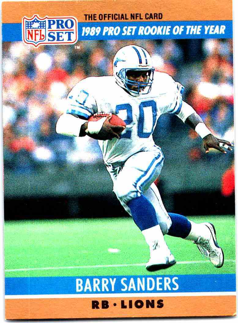 1990 Pro Set Barry Sanders 1 On Kronozio