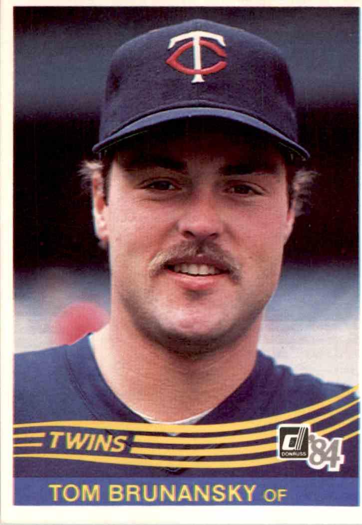 1984 Donruss Tom Brunansky 242 Card Front Image