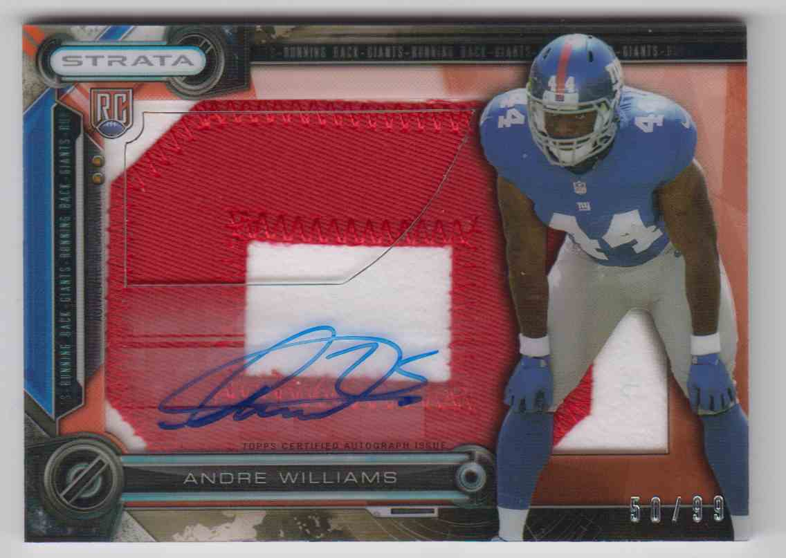 2014 Topps Strata Andre Williams #CCAR-AW card front image