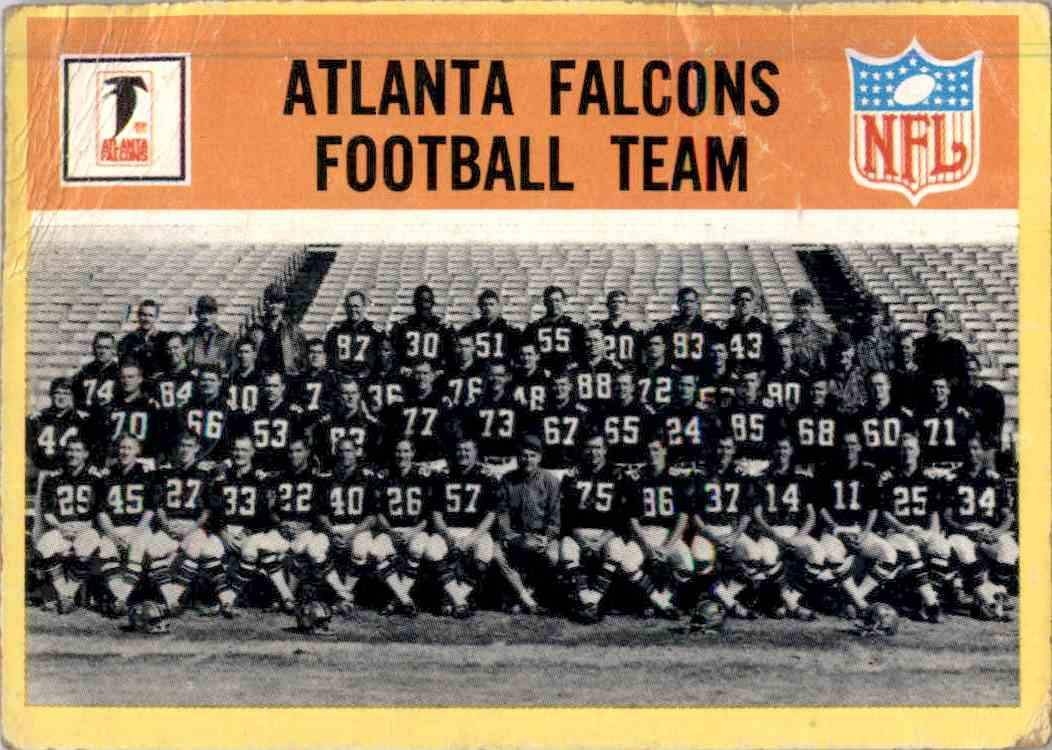 1967 Philadelphia Atlanta Falcons Football Team #1 card front image