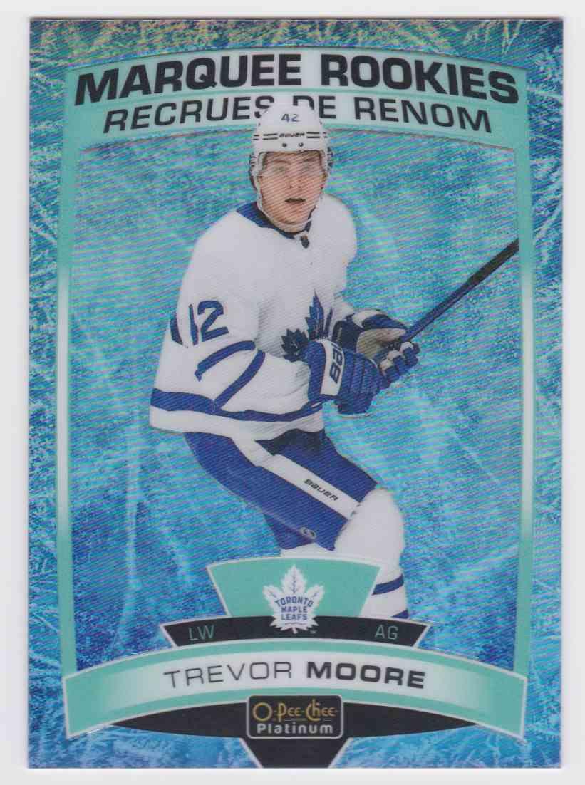 2019-20 Upper Deck Hockey O-Pee-Chee Platinum Trevor Moore - Arctic Freeze #160 card front image