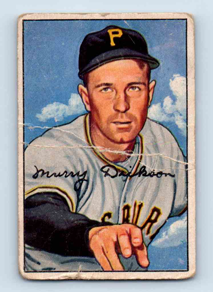 1952 Bowman Murray Dickson #59 card front image