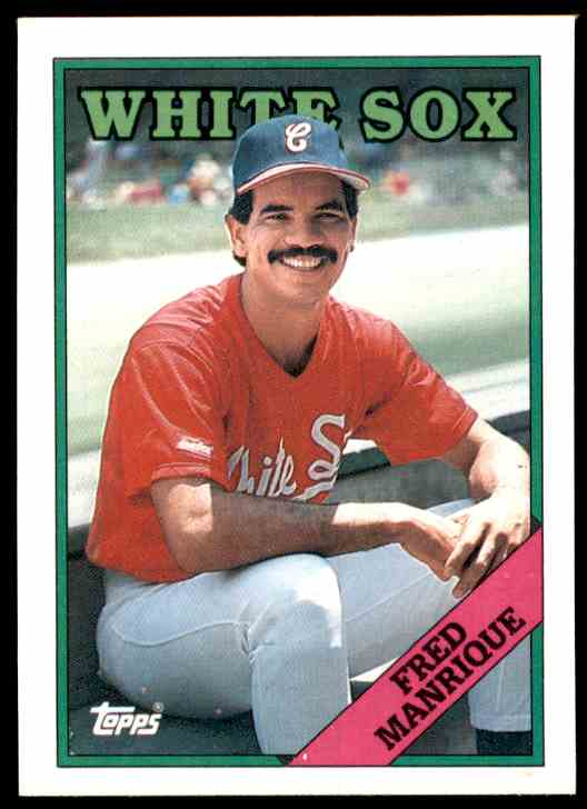 1988 Topps Fred Manrique #437 card front image