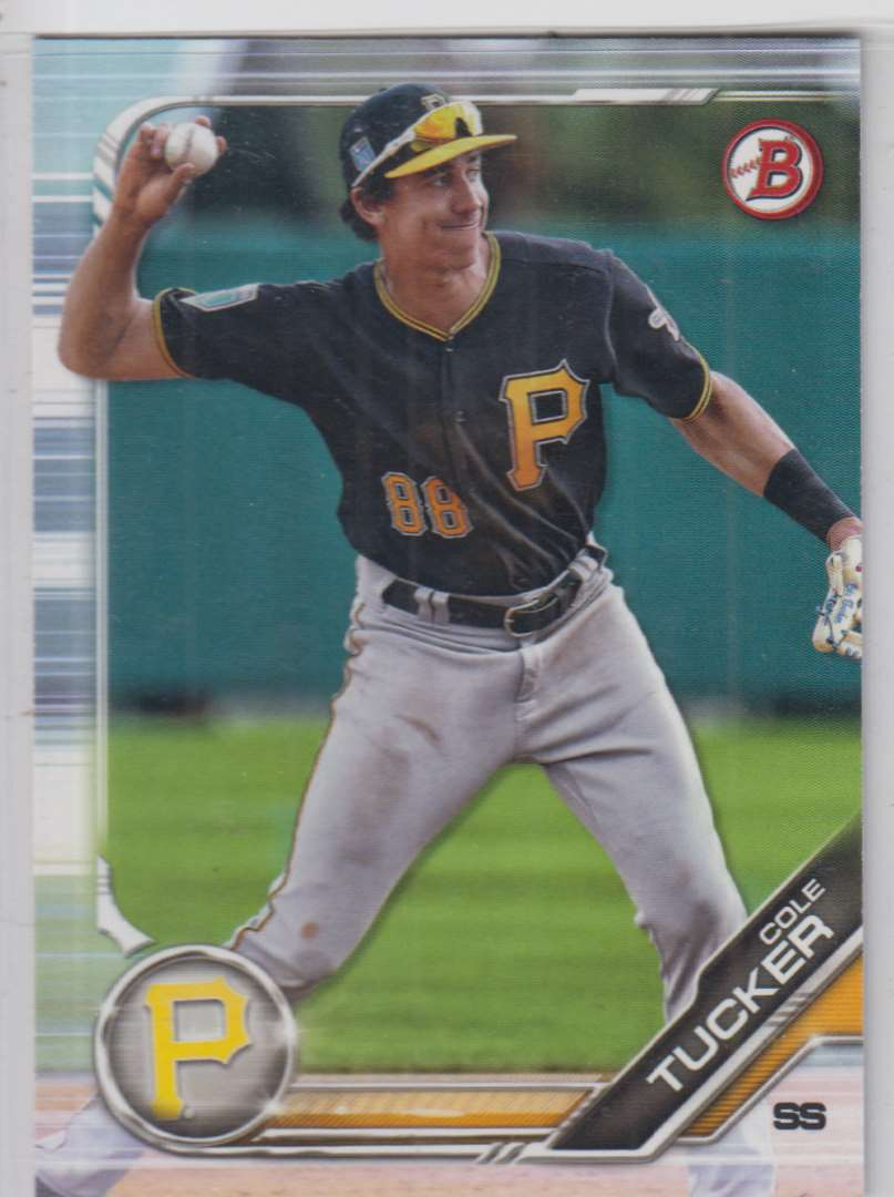 2019 Bowman Prospects Cole Tucker #BP-16 card front image