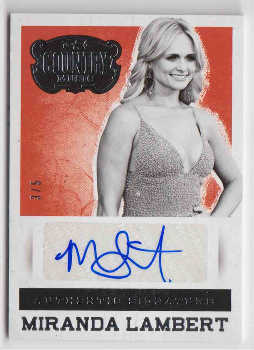 2014 Panini Country Music Silver Miranda Lambert #S-ML card front image