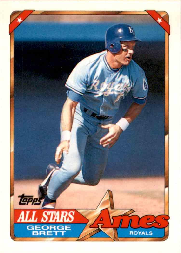 1990 Topps Ames All Stars George Brett 2 On Kronozio