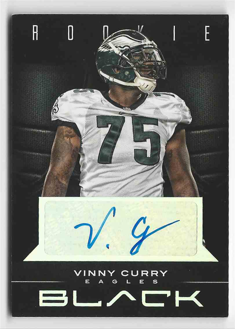 2012 Panini Black Rookie Signatures Vinny Curry #197 card front image