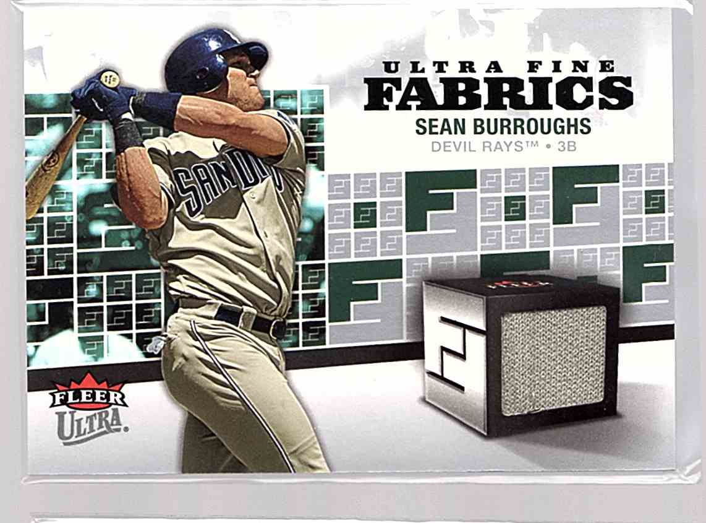 2006 Ultra Fine Fabrics Sean Burroughs #FM-SB card front image