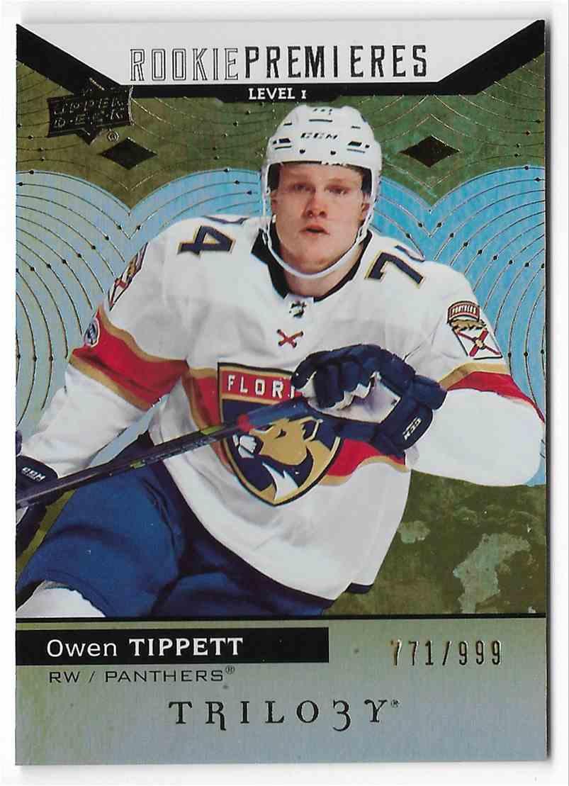2017-18 Upper Deck Trilogy Owen Tippett #69 card front image