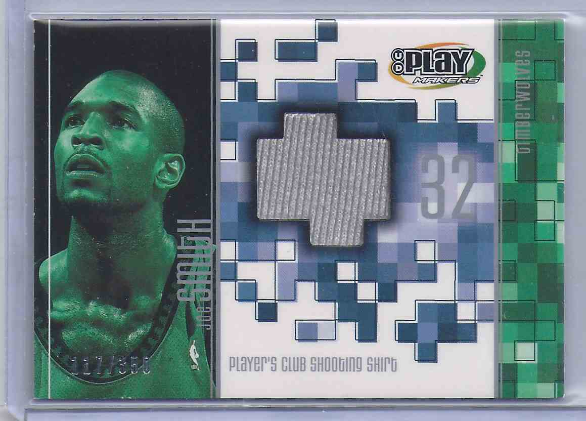 2001-02 Upper Deck Playmakers Pc Shooting Shirt Joe Smith #JSS card front image