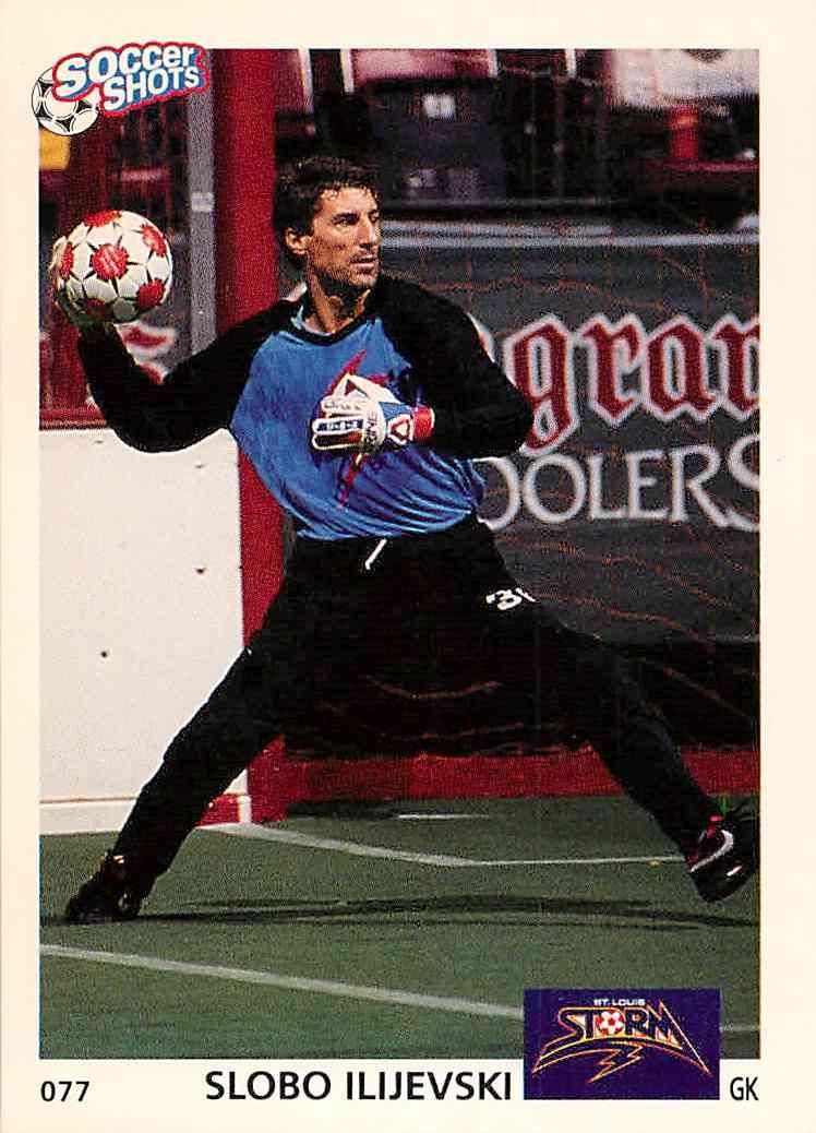 1991 Soccer Shots Slobo Ilijevski #077 card front image