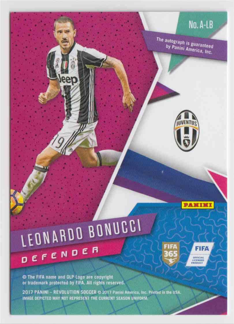 2017 Panini Revolution Leonardo Bonucci #A-LB card back image