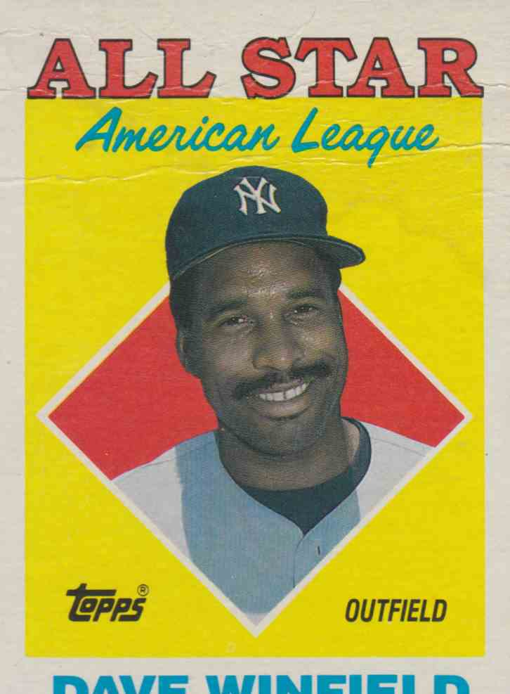 1988 Topps All-Star Dave Winfield #392 card front image