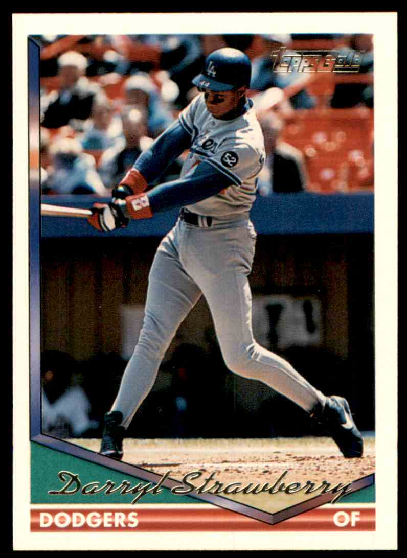 1994 Topps Gold Darryl Strawberry #640 card front image