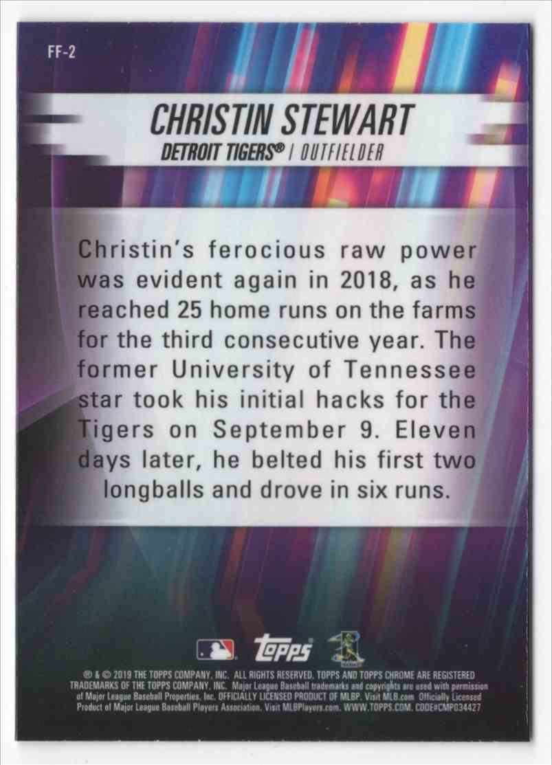 2019 Topps Chrome Freshman Flash Christin Stewart #FF2 card back image