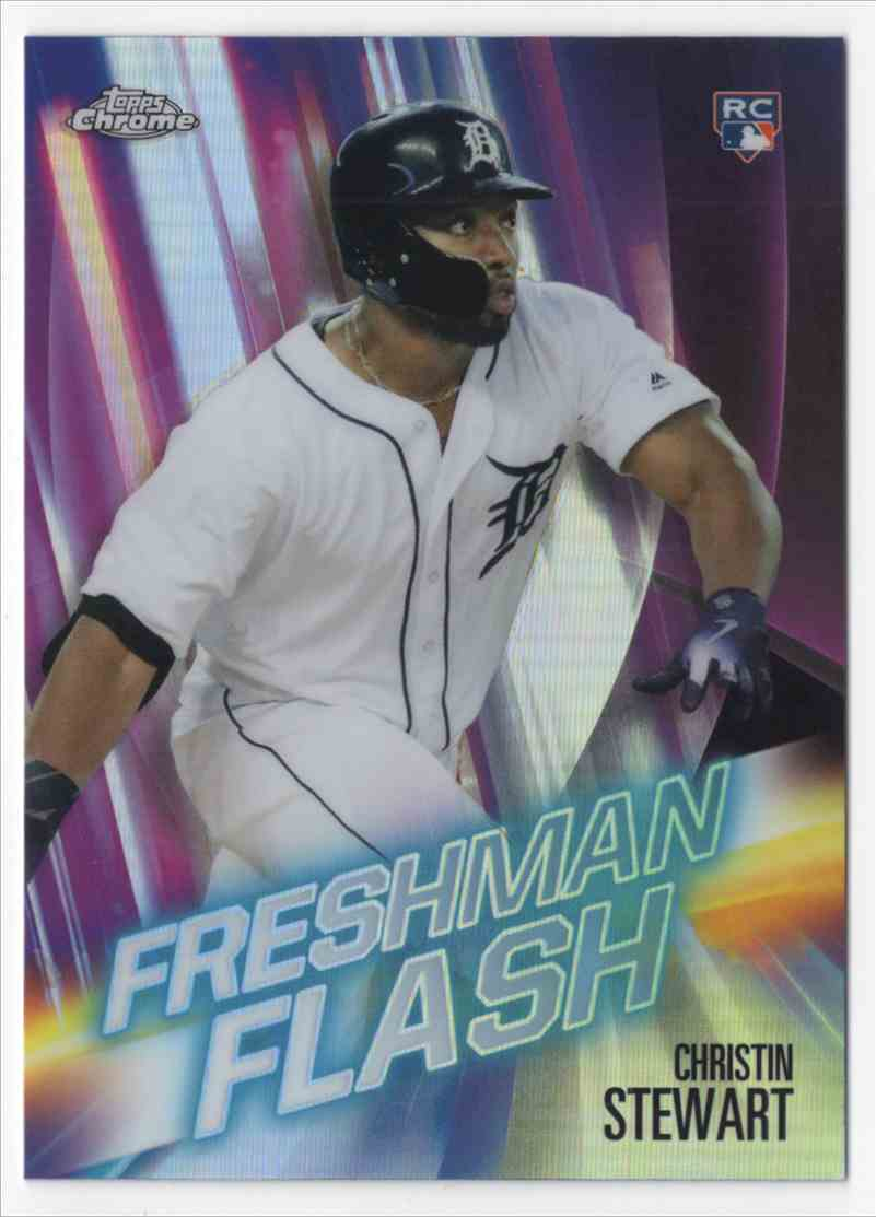 2019 Topps Chrome Freshman Flash Christin Stewart #FF2 card front image