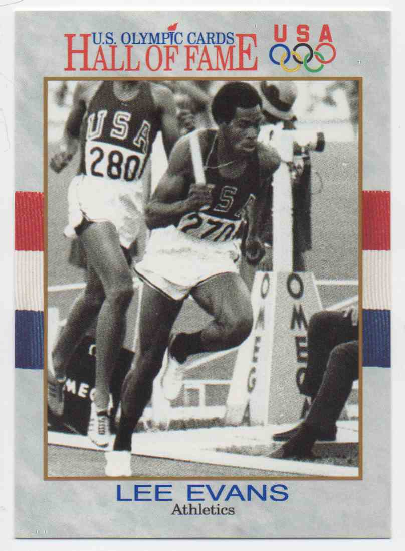 1991 Impel U.S. Olympic Hall Of Fame Lee Evans #42 card front image