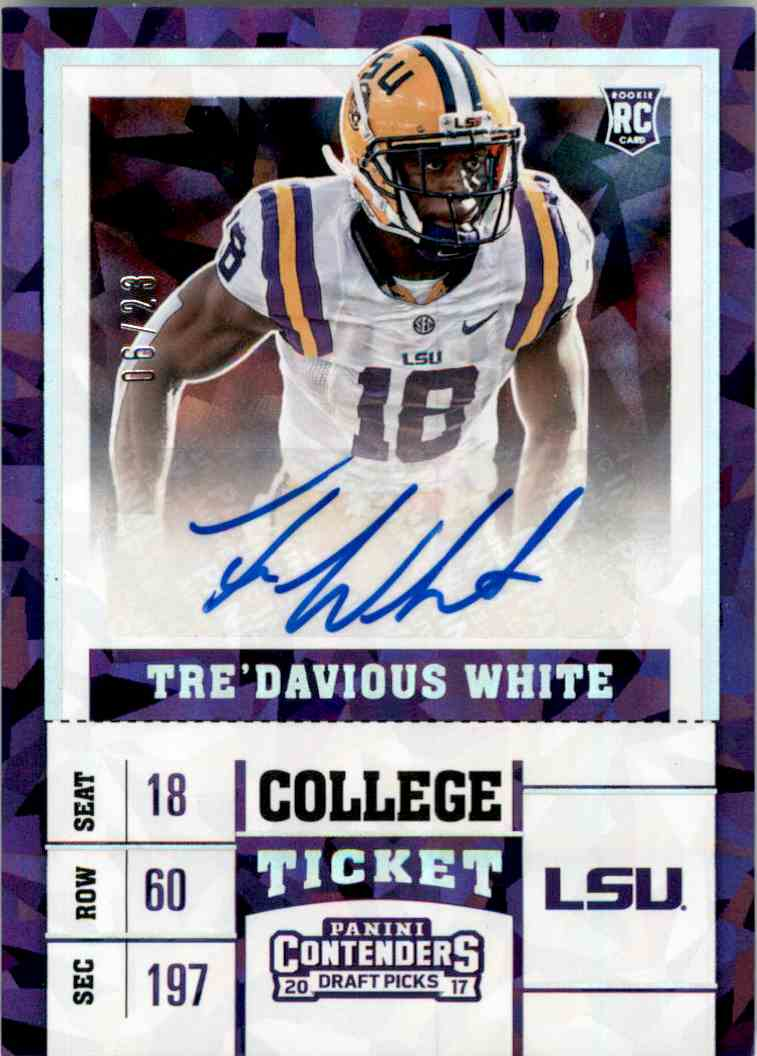 2017 Panini Contenders Draft Picks Cracked Ice Tre'Davious White #209 card front image