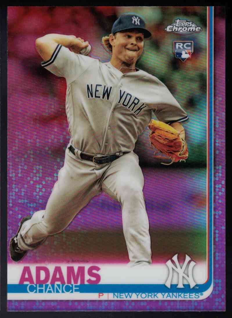 2019 Topps Chrome Pink Refractor Rookie Rc Chance Adams