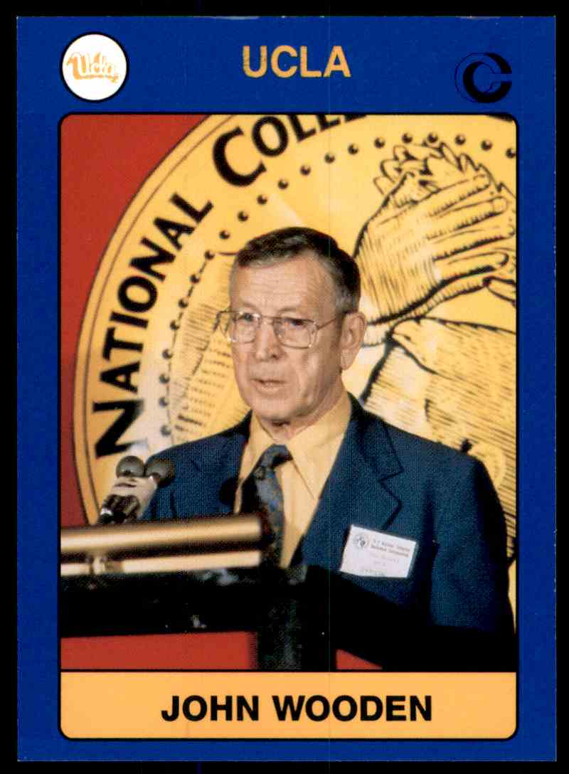 1991-92 Ucla Collegiate Collection John Wooden Co #1 card front image