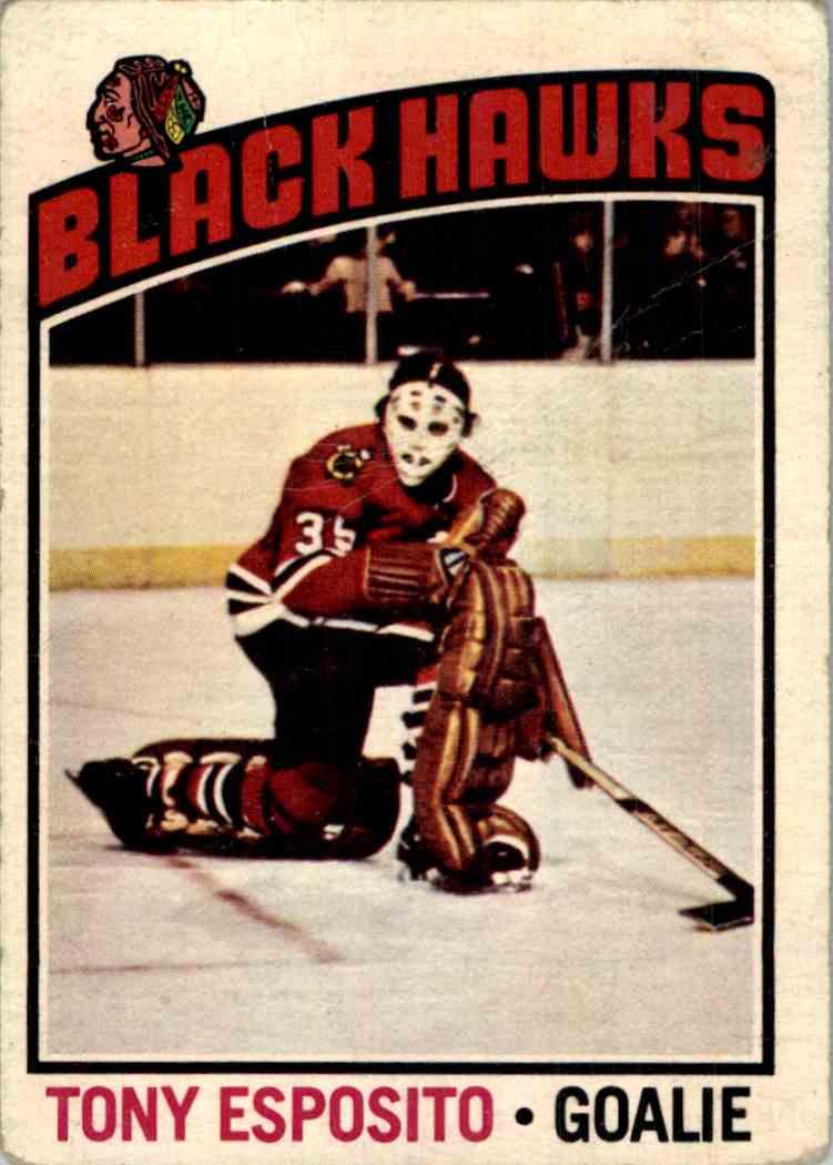 1976-77 O-Pee-Chee Tony Esposito #100 card front image