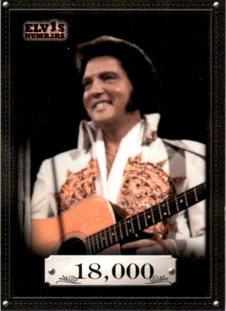 2008 Elvis By The Numbers 18,000 #34 card front image
