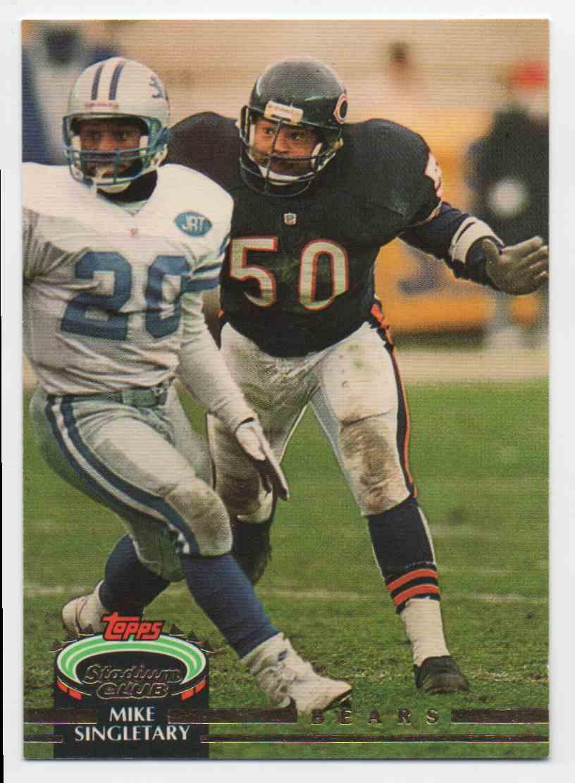 1992 Stadium Club Mike Singletary #673 card front image