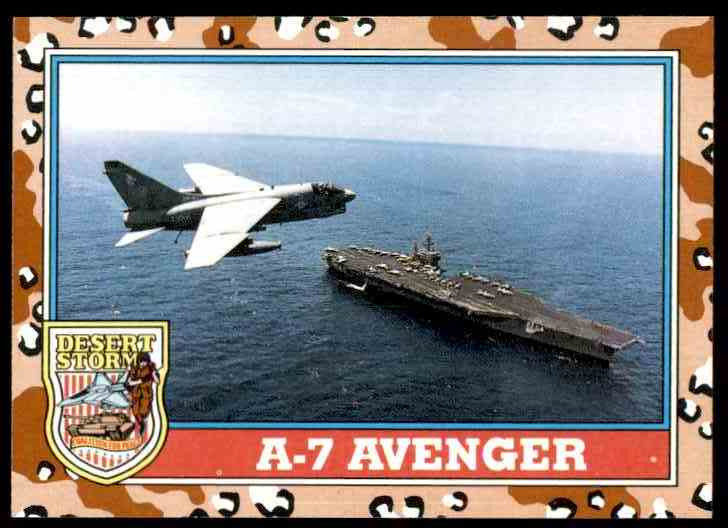 1991 Desert Storm Topps A-7 Avenger #112 card front image
