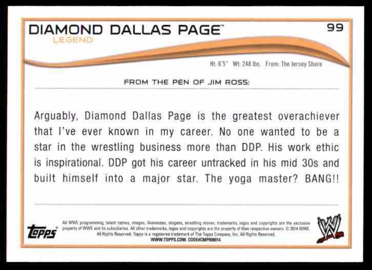 2014 Topps Wwe Diamond Dallas Page L #99 on Kronozio
