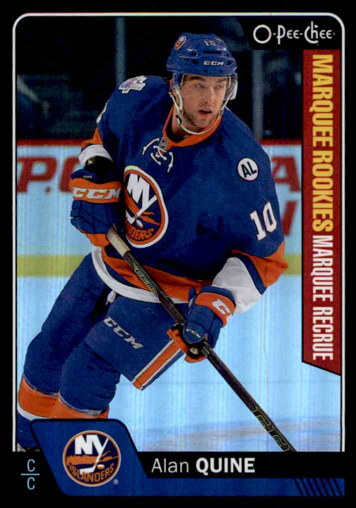 2016-17 O-Pee-Chee Rainbow Black Alan Quine #565 card front image