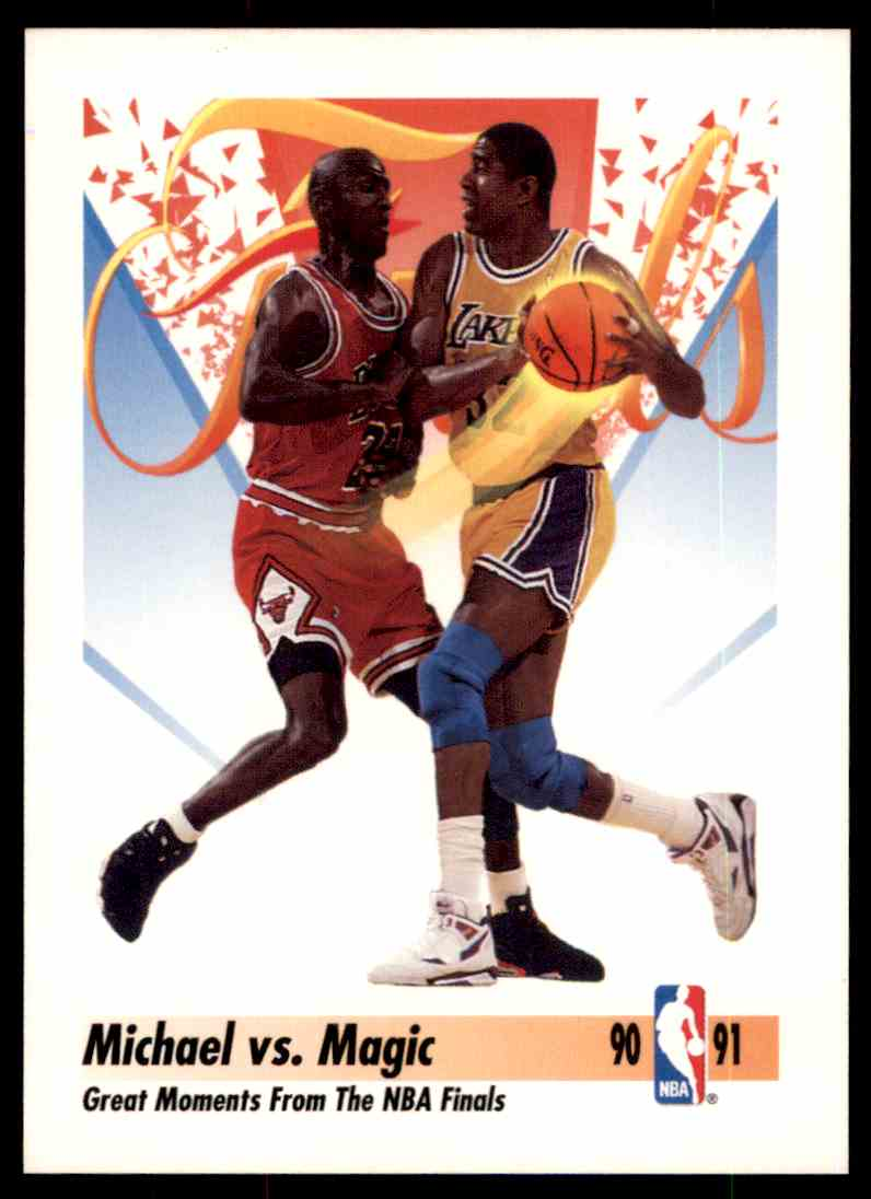 68795375f53 1990-91 Skybox Michael Jordan Vs Magic Johnson #333 card front image
