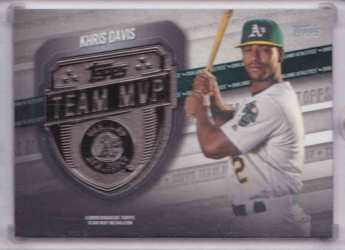 2018 Topps Series Two MVP Medallion Card Khris Davis #MVP-KD card front image