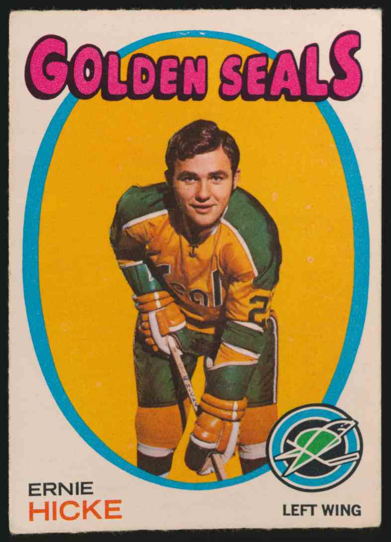 1971-72 O-Pee-Chee Ernie Hicke #61 card front image