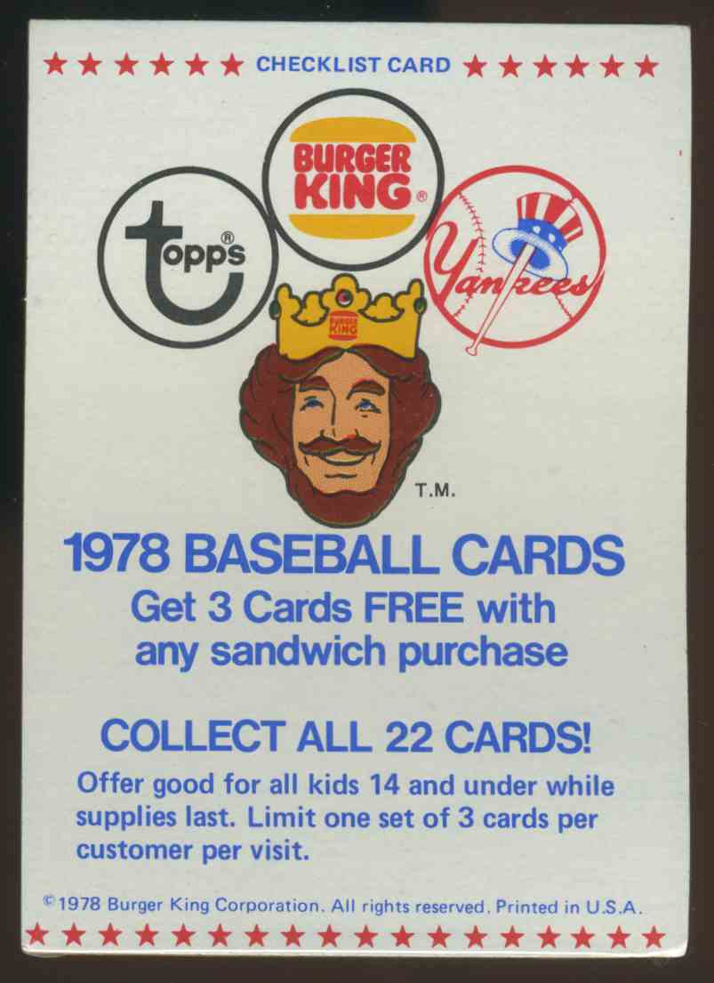 1978 3 Card Unopened Pack Topps Burger King Reggie Jackson