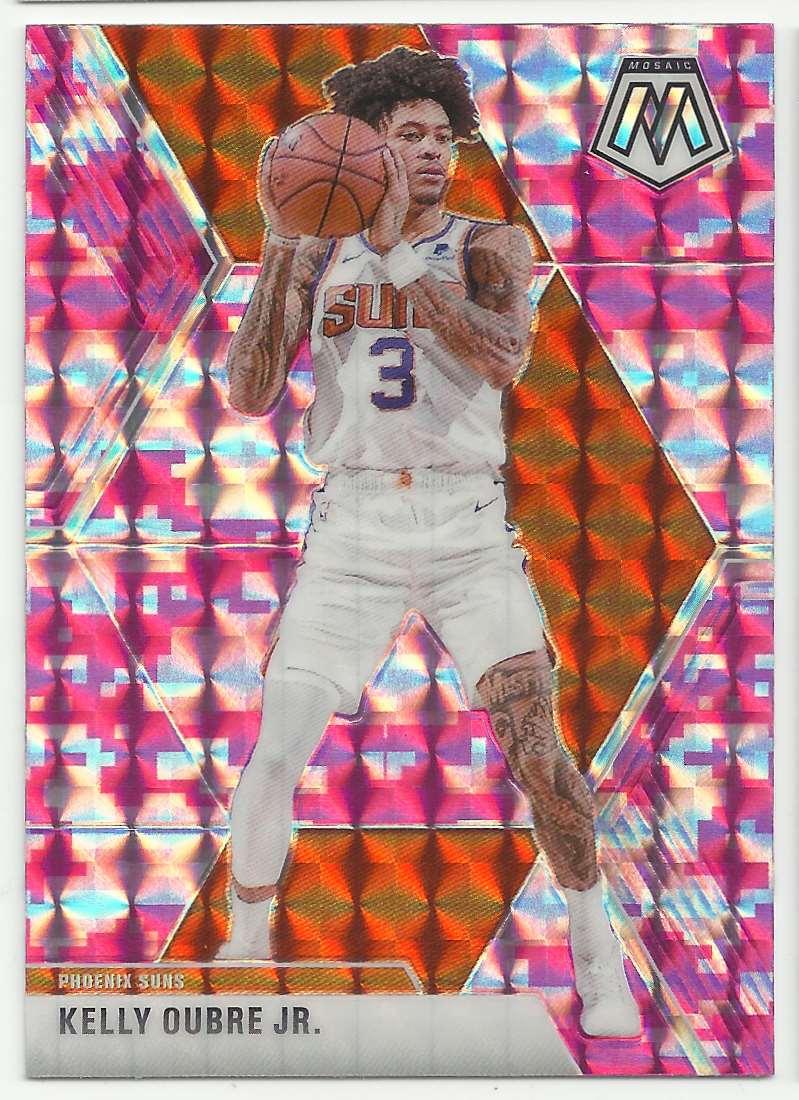 2019-20 Panini Mosaic Mosaic Pink Camo Kelly Oubre JR #148 card front image
