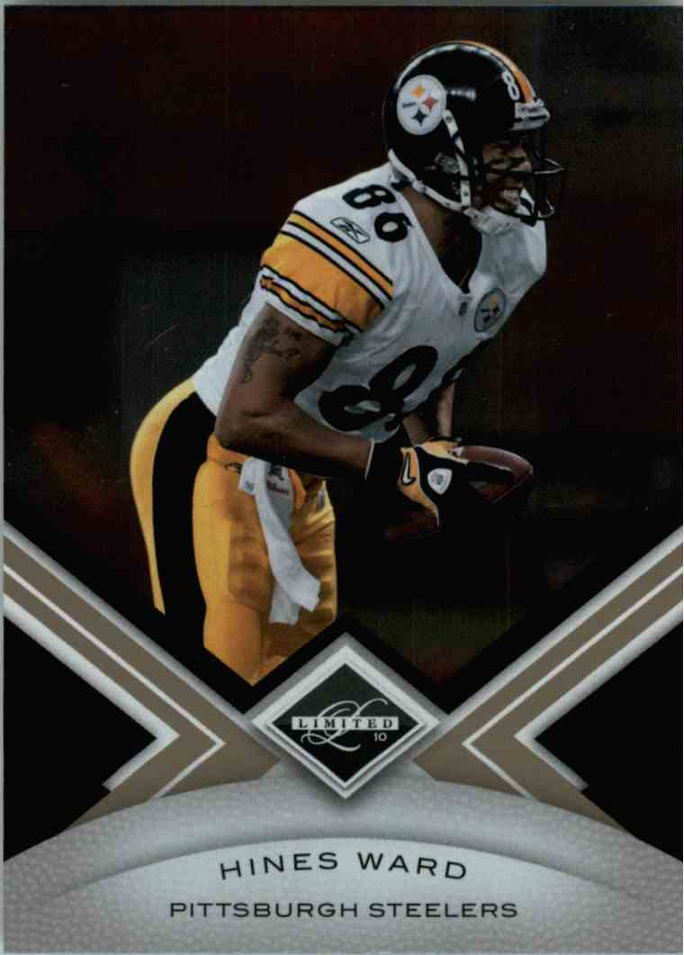 2010 Leaf Limited Hines Ward #78 card front image