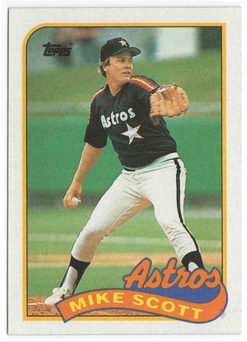 1989 Topps Mike Scott #180 card front image