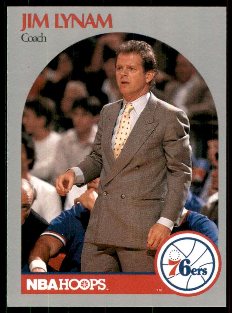 1990-91 Hoops Jim Lynam #324 card front image