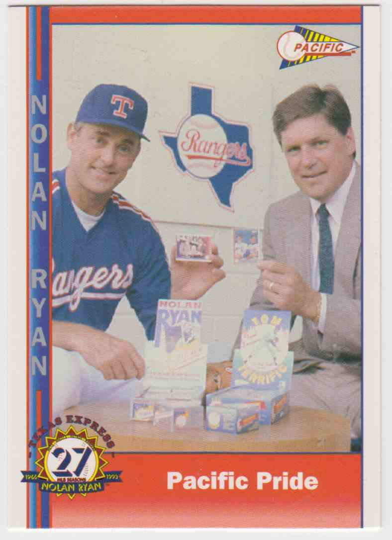 1993 Pacific Pacific Nolan Ryan 27th Season Limited Edition Nolan Ryan #250 card front image