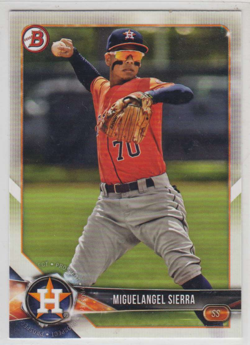 2018 Bowman Prospects Miguelangel Sierra #BP53 card front image
