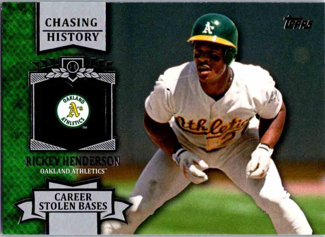 2013 Topps Baseball Chasing History Rickey Henderson Ch 8