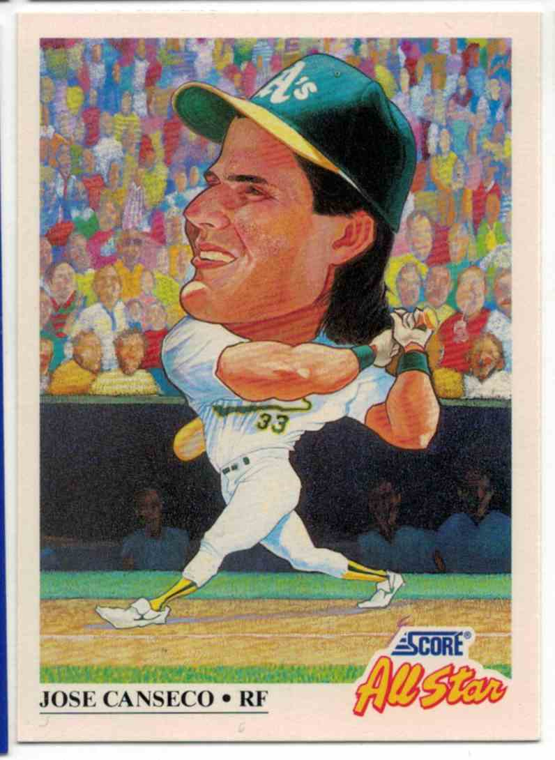 1991 Score Jose Canseco #398 card front image